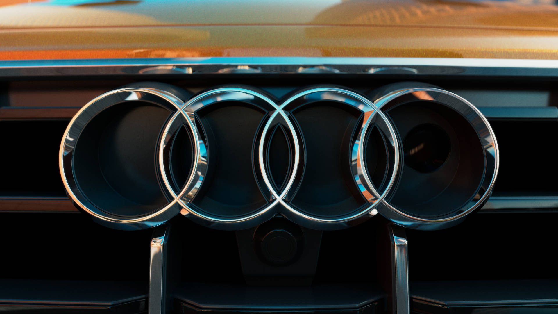 Audi Q8 front grill logo.